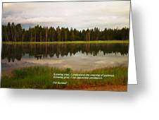 Knowing Trees Greeting Card