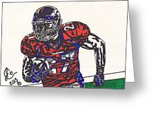 Knowshon Moreno 2 Greeting Card by Jeremiah Colley