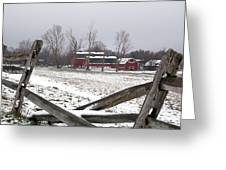 Knox Farm In Winter 0980 Greeting Card