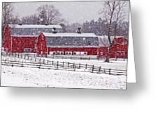 Knox Farm Snowfall Greeting Card by Don Nieman