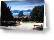 Koa Devils Tower Wyoming Greeting Card