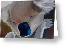 Koala Detail Greeting Card