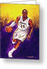 Kobe  Greeting Card by Brian Child