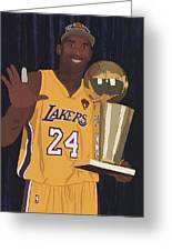 Kobe Bryant Five Championships Greeting Card