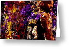 Kobe Bryant Looking Back Signed Prints Available At Laartwork.com Coupon Code Kodak Greeting Card by Leon Jimenez