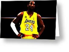 Kobe Bryant Ready For Battle Greeting Card