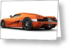 Koenigsegg Ccx Orange Greeting Card