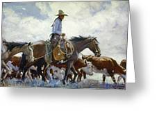 Koerner: Cowboy, 1920 Greeting Card