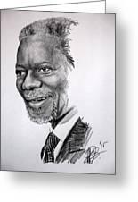 Kofi Anan Greeting Card