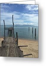 Koh Samui Pier Greeting Card