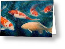 Koi Ballet 2 Greeting Card