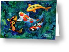 Koi Group Greeting Card