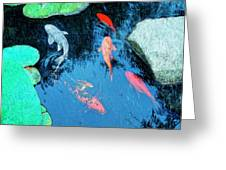 Koi Pond 1 Greeting Card