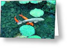 Koi Pond 3 Greeting Card