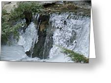 Koi Pond Waterfall Greeting Card