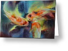 Koi Series Koillision Greeting Card