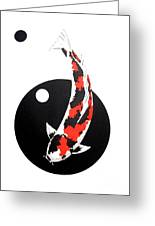 Koi Showa Circles Nishikoi Painting Greeting Card