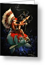 Koi Warrior Greeting Card