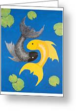 Koi Yin-yang Greeting Card
