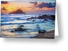 Koki Beach Harmony Greeting Card by Inge Johnsson