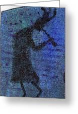 Kokopeli Blues Greeting Card