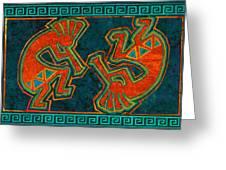 Kokopelli Dancers Greeting Card