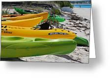 Kolorful Kayaks Greeting Card