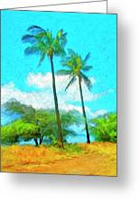 Kona Palms Greeting Card