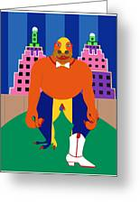 Kong In The City Greeting Card