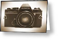 Konica Tc 35mm Camera Greeting Card by Mike McGlothlen