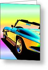 Kool Corvette Greeting Card by Lynn Andrews