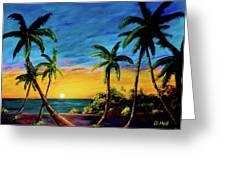 Ko'olina Sunset On The West Side Of Oahu Hawaii #299 Greeting Card