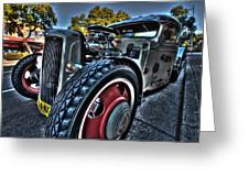 Koolsville Rat Rod. Greeting Card by Ian  Ramsay