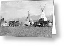 Kootenai First Nations Camp, C.1920-30s Greeting Card