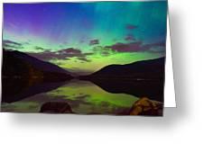 Kootenay Lake Northern Lights Greeting Card