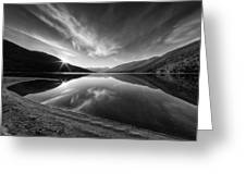 Kootenay Lake Sunrise Black And White Greeting Card