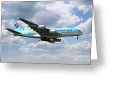 Korean Air Airbus A380 Greeting Card