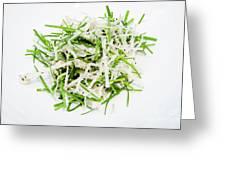 Korean Traditional Fresh Vegetable Salad Greeting Card