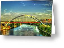 Korean Veterans Memorial Bridge 2 Nashville Tennessee Sunset Art Greeting Card
