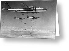 Korean War: B-29 Bombers Greeting Card