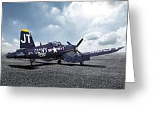 Korean War Hero F4-u Corsair Greeting Card
