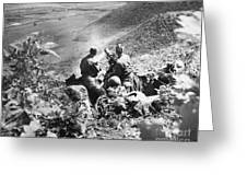 Korean War: Machine Gun Greeting Card