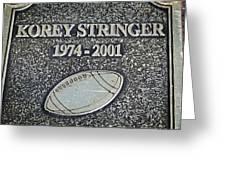 Korey Stringer Tribute Greeting Card