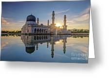 Kota Kinabalu City Mosque II Greeting Card