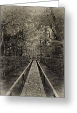 Koto-in Zen Temple Forest Path - Kyoto Japan Greeting Card