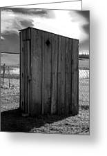 Koyl Cemetery Outhouse5 Greeting Card
