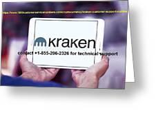 Krakensupportnumber Greeting Card