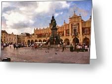 Krakow Main Market Greeting Card