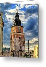 Krakow Town Hall Greeting Card