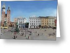 Krakow, Town Square Greeting Card